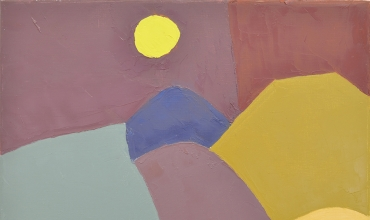 Oeuvre d'Etel Adnan, exposition à l'Institut du monde arabe, Paris