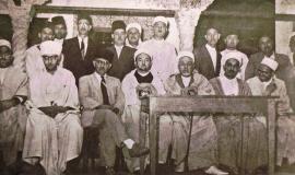Conseil d'administration de l'Association des Oulémas en Algérie, fin des années 1950. D.R.