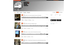 la page Institut du monde arabe de Soundcloud