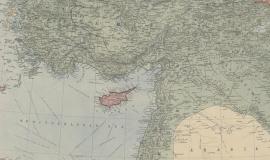 Carte de la Mésopotamie et de l'Asie Mineure 1914-1918 (détail) © BnF