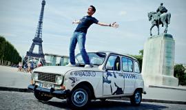 La 4L de Vincent Gelot à Paris