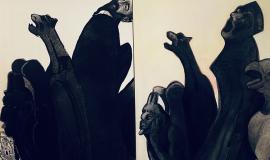 - Hussein TAÏ Notre-Dame 2019 Technique mixte sur papier 40 x 30 cm.png