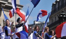 Meeting du Front national, 1er mai 2012, Paris © Blandine Le Cain