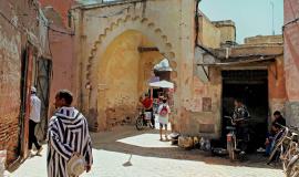 Dans la médina de Marrakech, avril 2013. © Calfillier