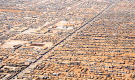 Vue aérienne du camp de réfugiés de Zaatri en Jordanie. D.R.
