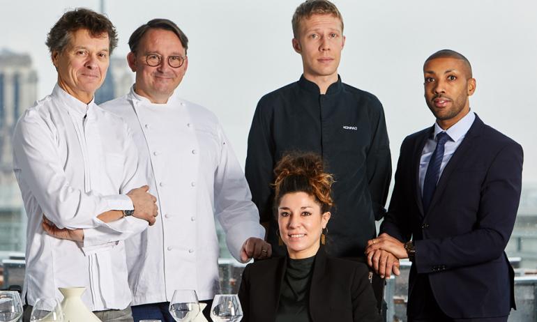 Guy Martin et son équipe à l'IMA, au restaurant gastronomique Le Ziryab D.R.