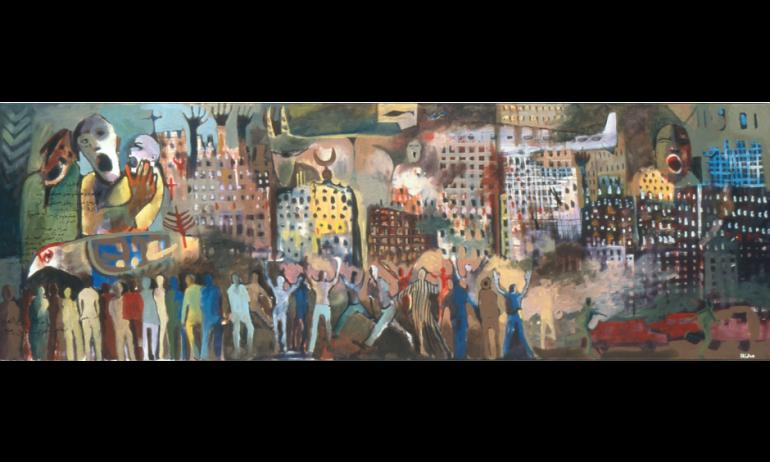 Zian  Alabdeen, « Le 11 septembre», Musée de l'IMA. © IMA/ Philippe Maillard
