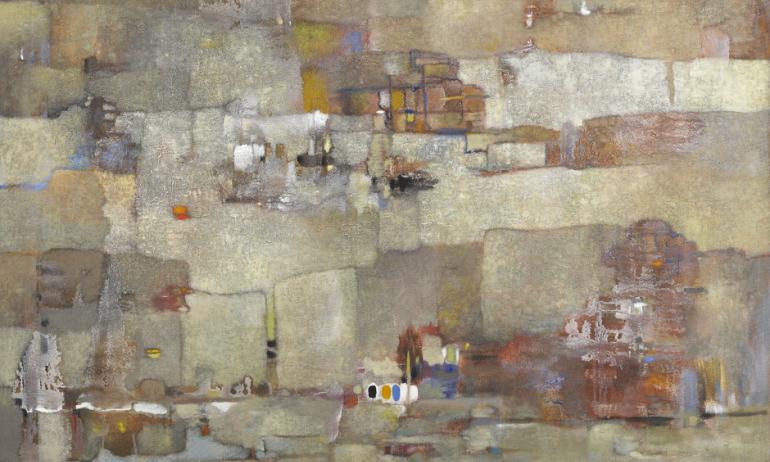 Abdelkader Guermaz, Paysage imaginaire, 1975. © Donation Lemand / IMA