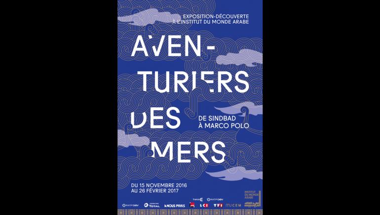 Affiche réalisée par Laura Quidal pour l'exposition Aventuriers des mers à l'IMA