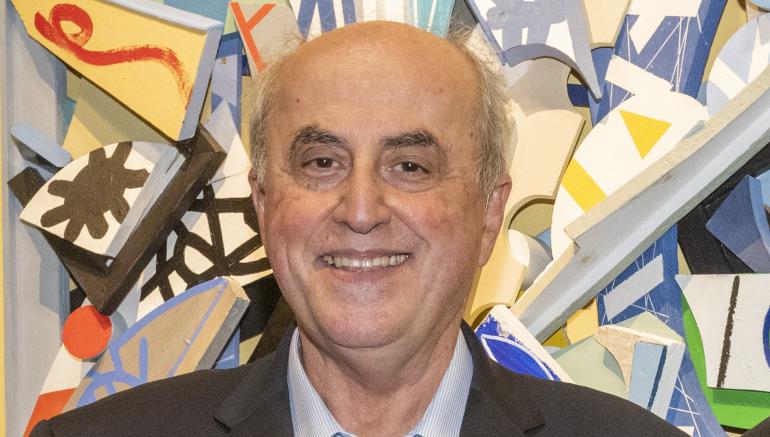 Elias Sanbar, vernissage de l'exposition Couleurs du monde à l'IMA, 17 septembre 2020. © Alice Sidoli / IMA
