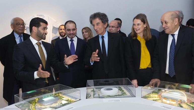 Inauguration de l'exposition Foot et monde arabe à l'IMA, 8 avril 2019