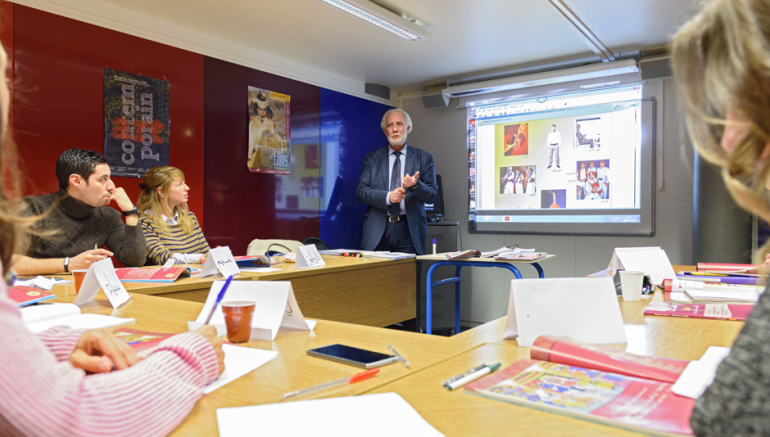Cours au Centre de langue de l'Institut du monde arabe