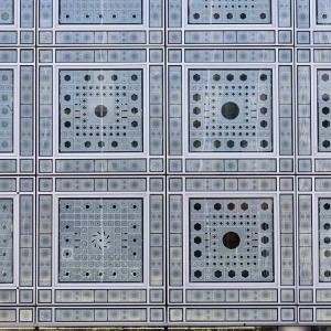 La façade Sud de l'Institut du monde arabe. © Thierry Rambaud / IMA