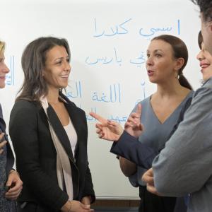 Cours de langue au Centre de langue de l'Institut du monde arabe.© IMA/Alice Sidoli