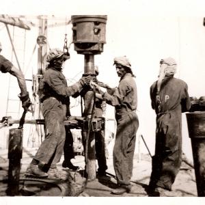 Sur un site de la Saudi Aramco, XXe siècle, sans date. D.R.