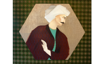 Hayv Kahraman, «Khosrow», huile sur toile de lin,  127x152 cm, 2009, Barjeel Art Foundation