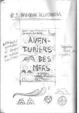 Premier crayonné pour l'affiche aventuriers des mers par Laura Quidal