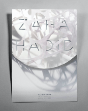 Affiche pour une expo sur Zaha Hadid par Solene Couybes