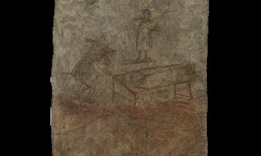 La guérison du paralytique, fresque de Doura-Europos (détail)