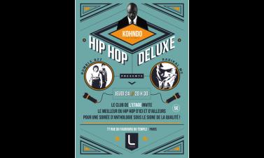 Affiche et flyer par Jérémie Herrbach pour un concert de hip hop