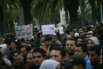 Scène de la révolution tunisienne, 21 janvier 2011. © Wassim Ben Rhouma