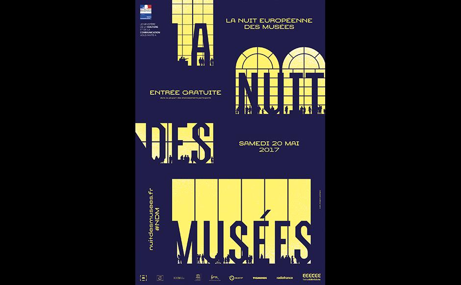 Affiche de la Nuit des musées 2017, 20 mai 2017