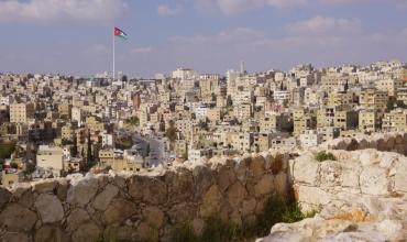 Amman, capitale de la Jordanie, depuis la citadelle Jebel Al Qala'a.