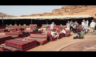 Campement dans le désert du Wadi Rum.