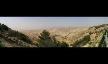 Panorama sur la vallée du Jourdain depuis le mont Nebo.