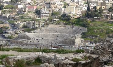 Amman, Jordanie : le théâtre romain de la ville basse.