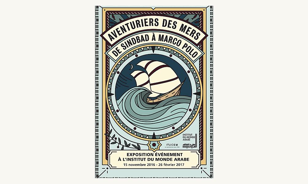 Affiche de Joanna Starck pour l'expo Aventuriers des mers à l'IMA