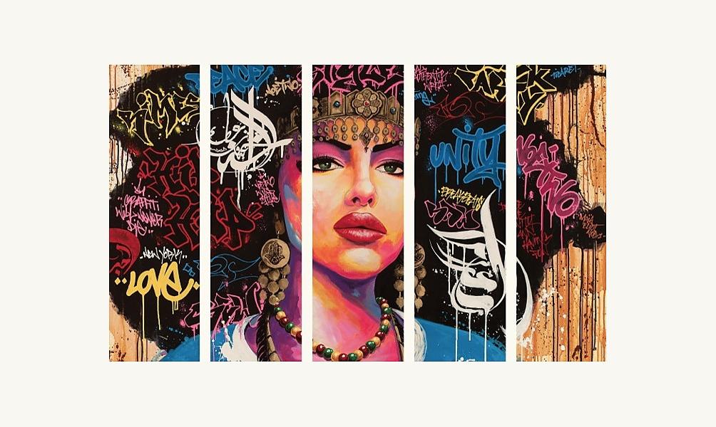 """Affiche de l'exposition Hip-Hop - """"Aisha"""" par Noe Two / designed in Marseille by aKa"""