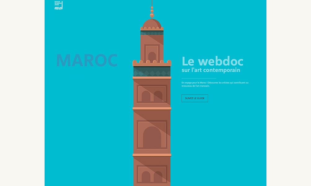 Webdoc Imaroc art contemporain Institut du monde arabe