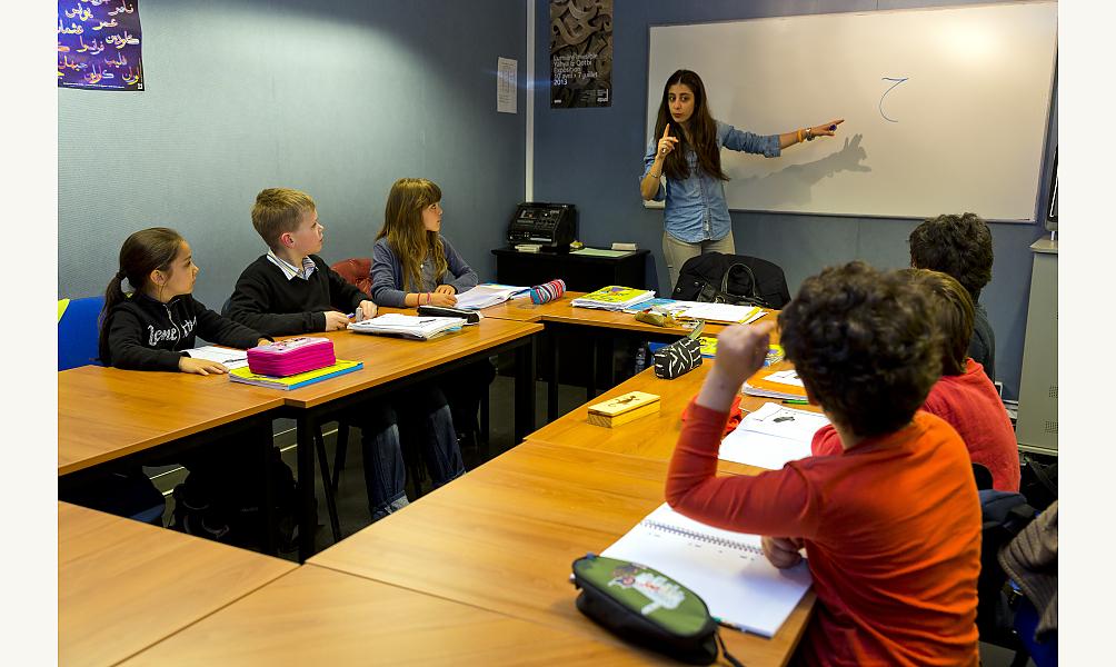 cours de langue arabe à l'IMA © Fabrice Cateloy / IMA