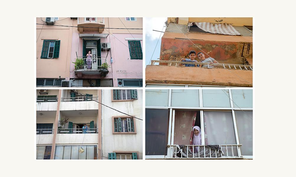 Balcons à Beyrouth, photograpie de Vladimir Antaki