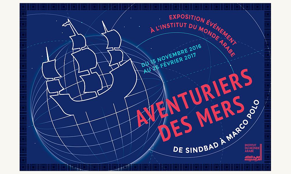 Affiches de Solene Couybes pour l'expo Aventuriers des mers 2016