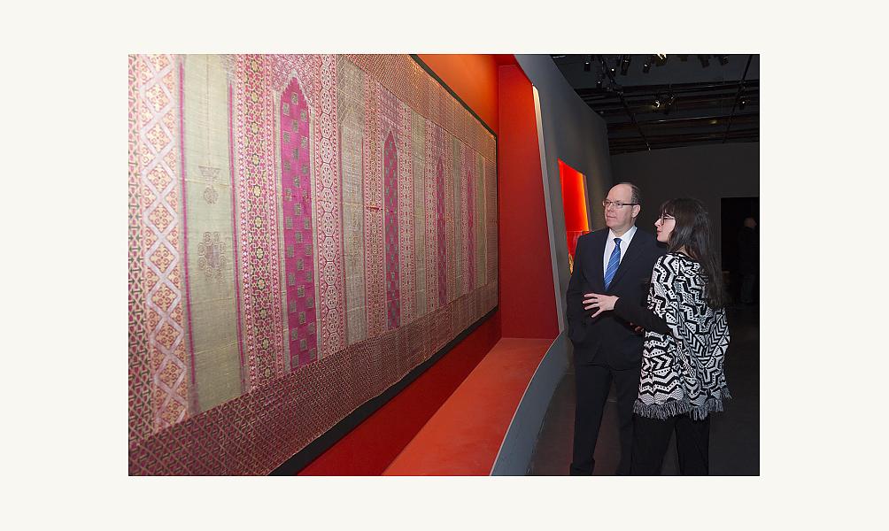 Le prince Albert de Monaco à l'Institut du monde arabe