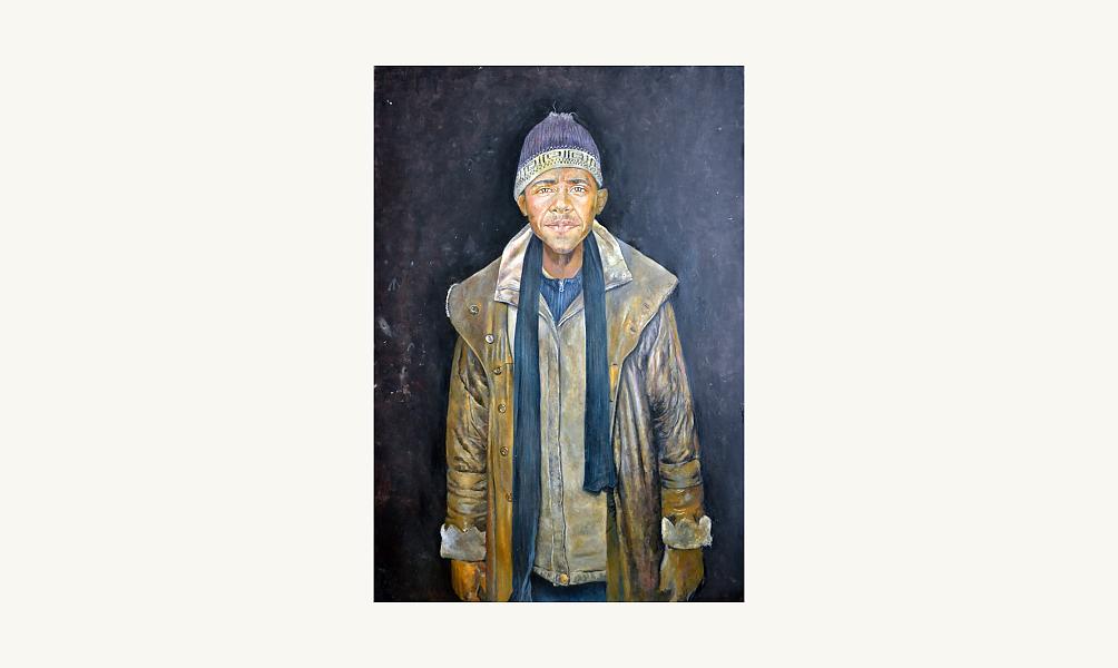 Abdalla Omari, «Obama», 2014, Fondation Barjeel