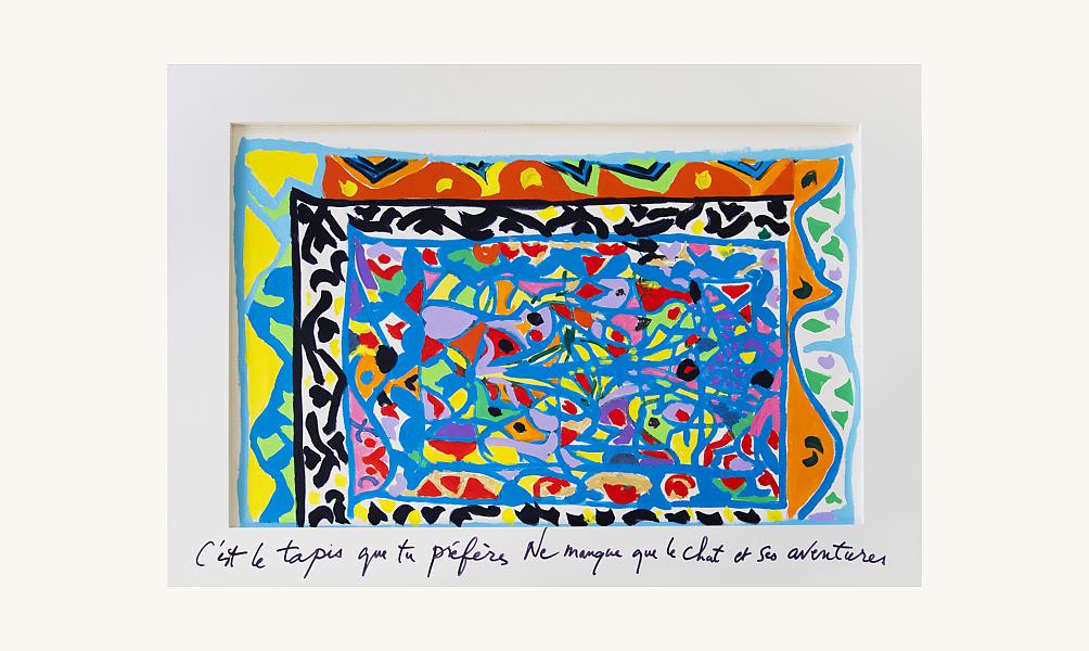 """Tahar Ben Jelloun, """"Sans titre"""", acrylique sur toile. (c) Francesca Mantovani"""