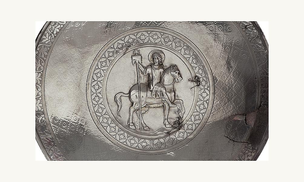 Plat représentant saint Julien, Homs-Emèse (Syrie), VIIe siècle