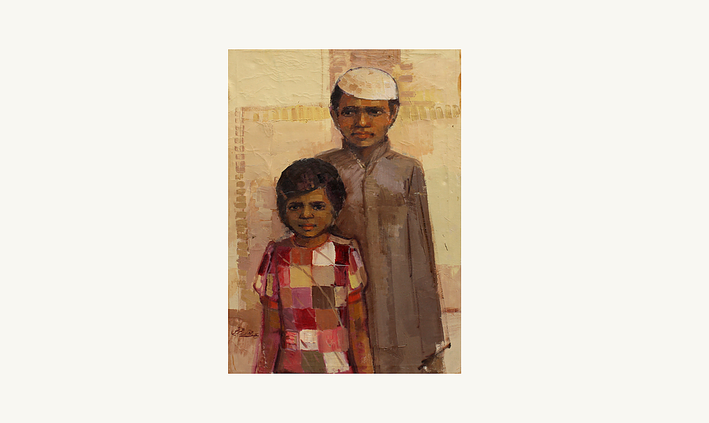 "Abdul Qader al Rais, ""Obeid and Moza"",1973"
