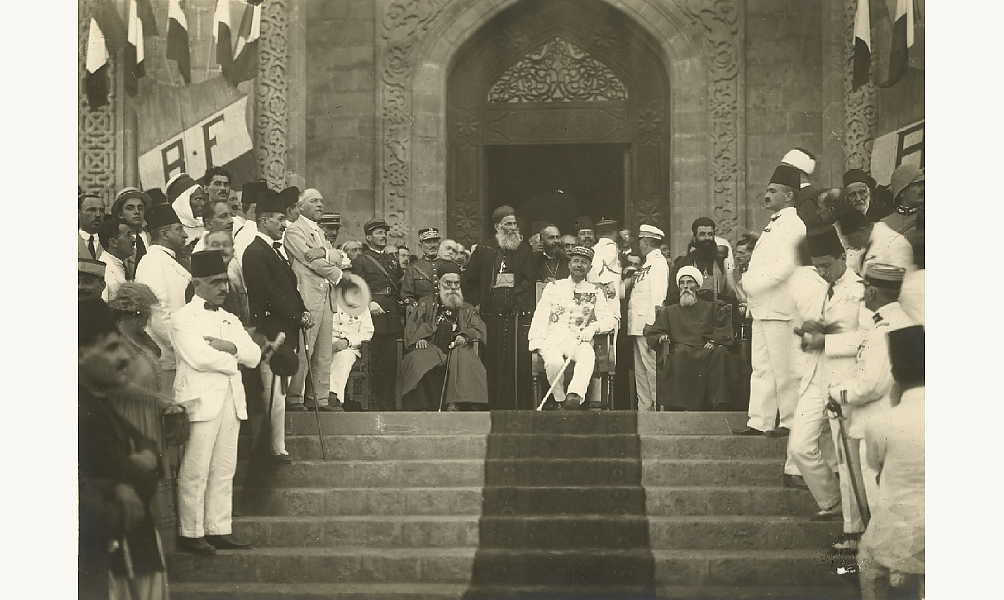 Proclamation du-Grand-Liban par le général Gouraud. D.R.