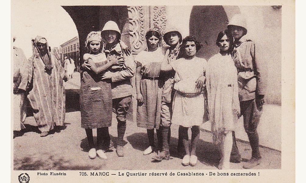 Prostitution dans le Maroc colonial. Photo Flandrin. D.R.