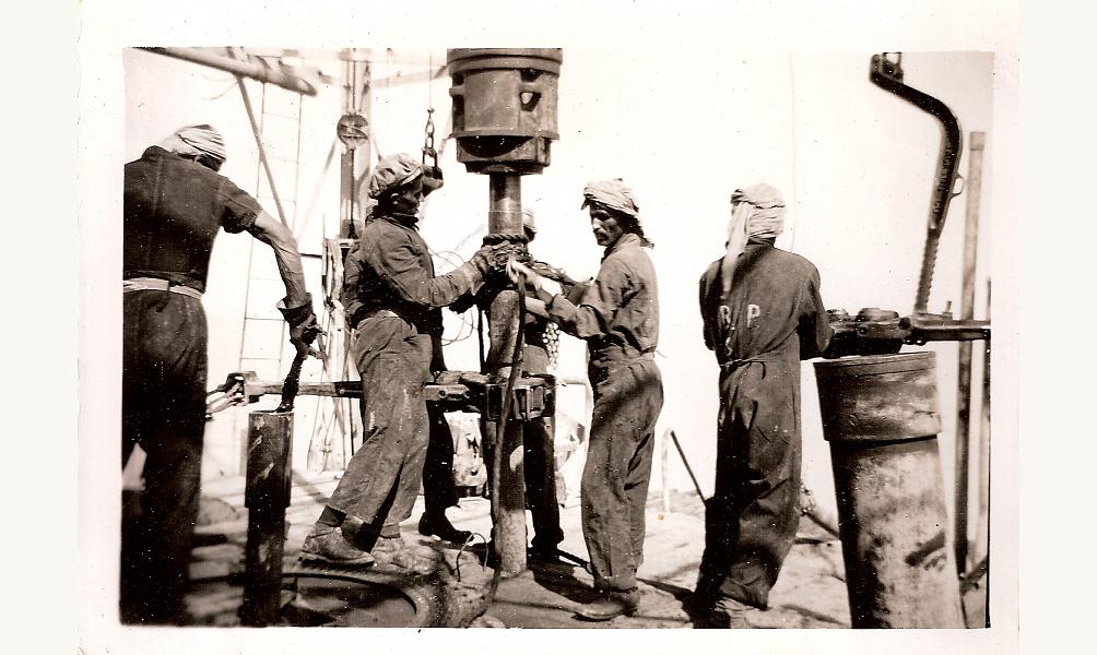 Sur un site de la Saudi Aramco, XXe siècle (sans date).