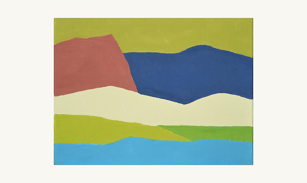 Etel Adnan, Paysage, 2014. Huile sur toile, 32 x 41 cm. © Donation Lemand / IMA
