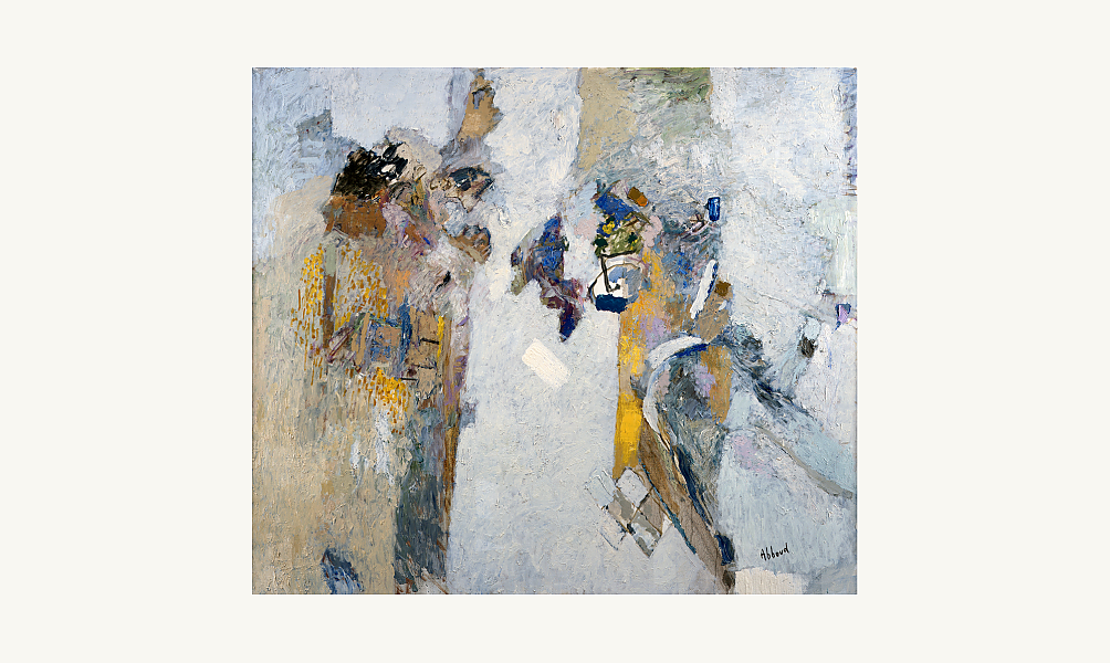 Shafic Abboud, L'Aube, 2003. Huile sur toile, 105 x 120 cm. © Donation Lemand - IMA