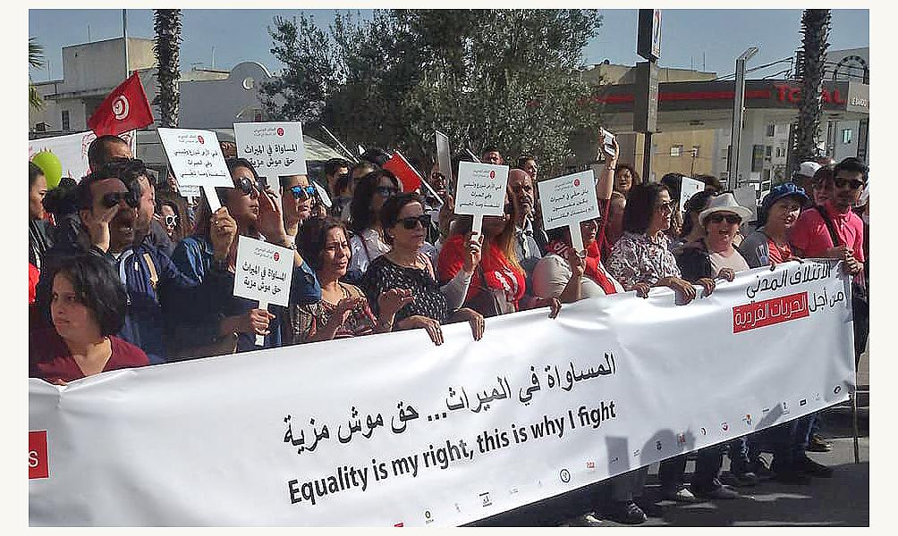 Marche pour l'égalité dans l'héritage au Bardo. Tunis 10 mars 2018 © Omegatak.jpg
