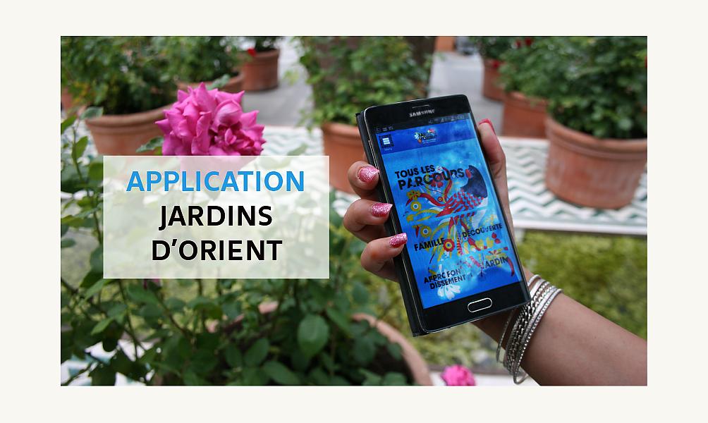 Application mobile Jardins d'Orient à l'IMA