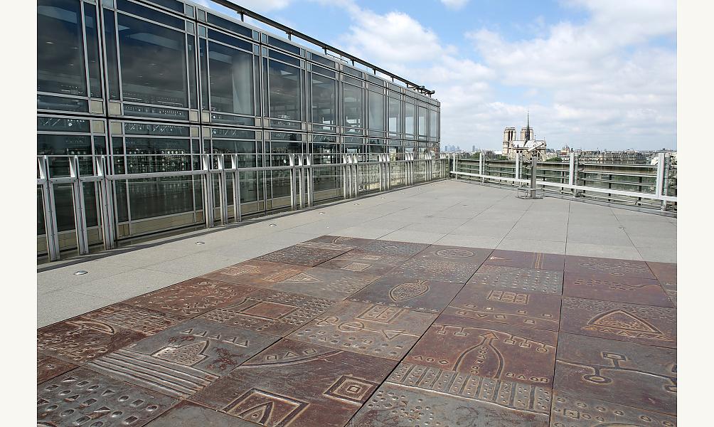 Terrasse panoramique de l'institut du monde arabe
