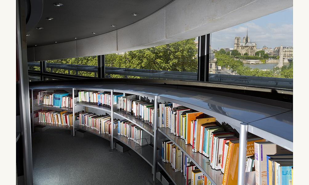 Bibliothèque Tour des livres de l'IMA